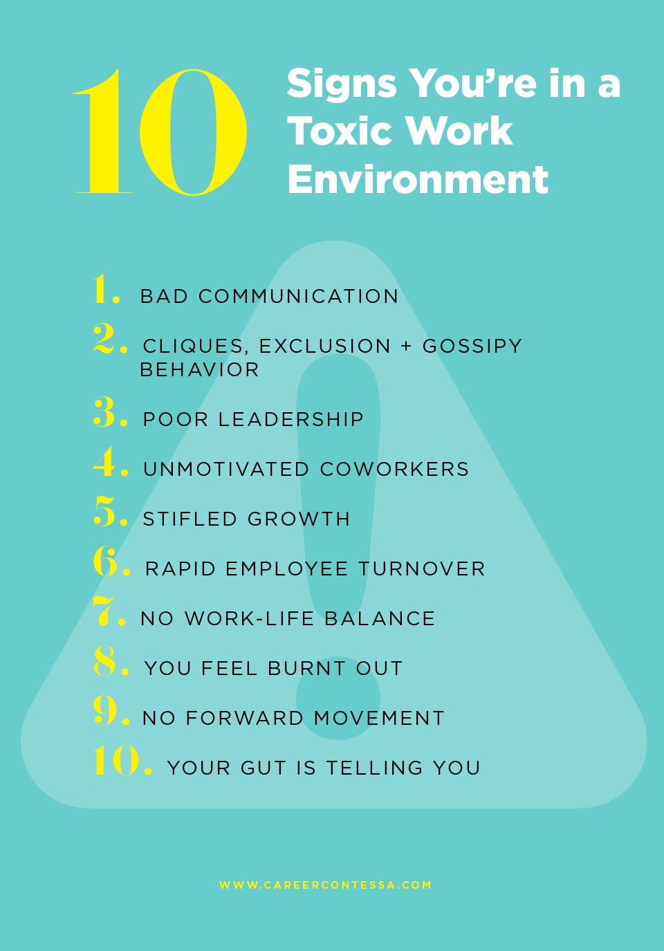 10 Signs You're in a Toxic Work Environment—and How to Escape   Career  Contessa