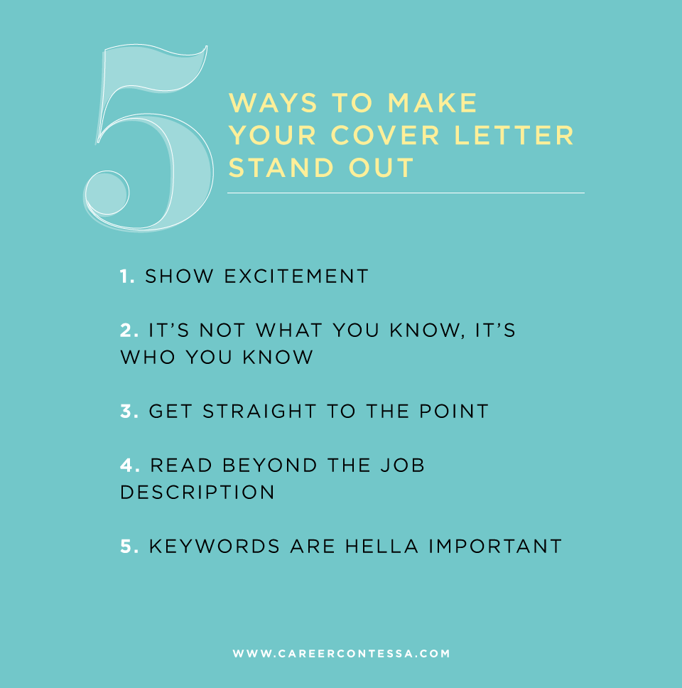 5 Opening Lines That Will Make Your Cover Letter Stand Out Career Contessa
