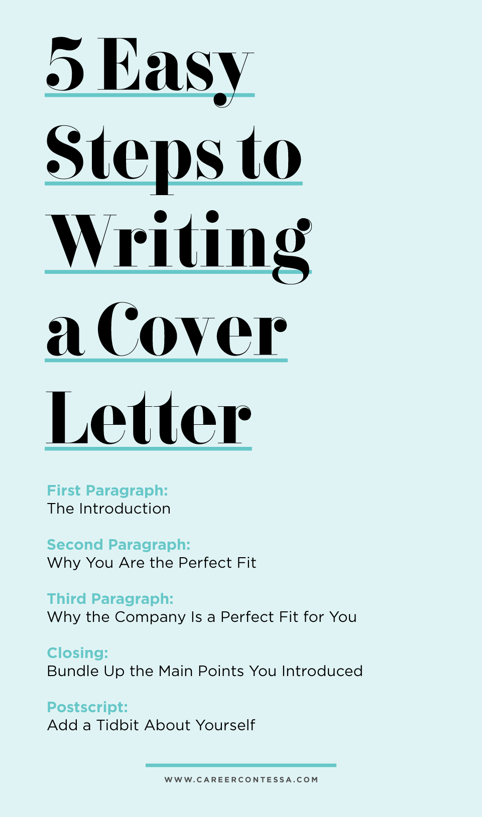 what would your introductory paragraph look like 5 step cover letter