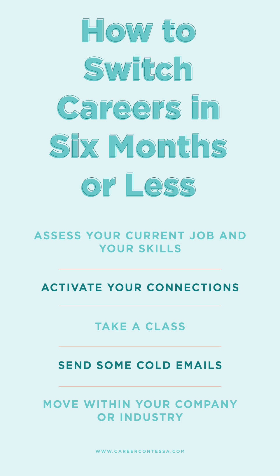 Switch Careers Six Months