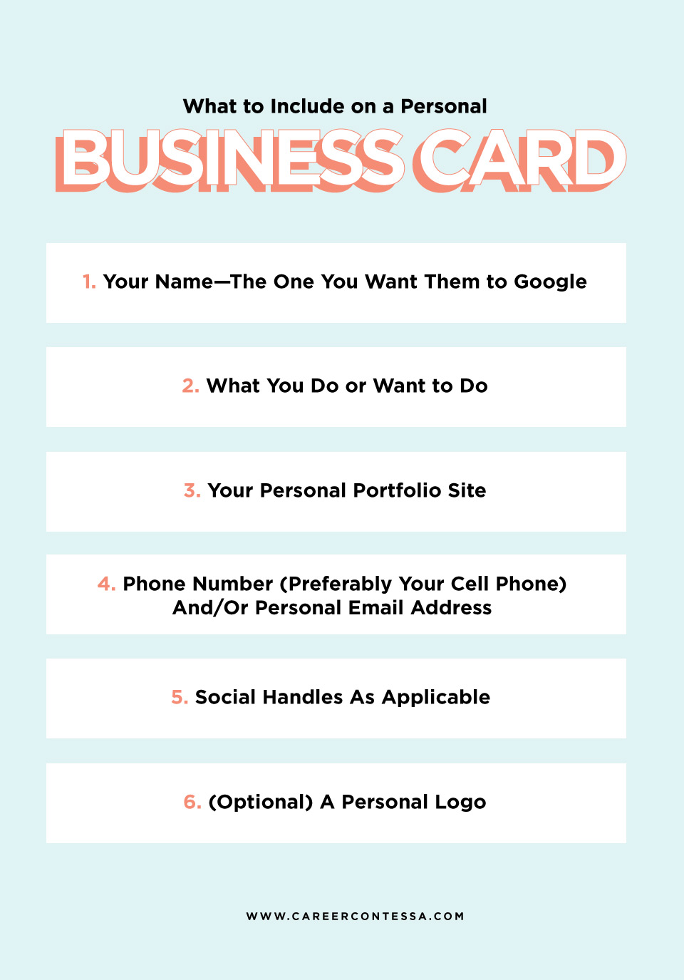What to Put on a Personal Business Card (+ A Template