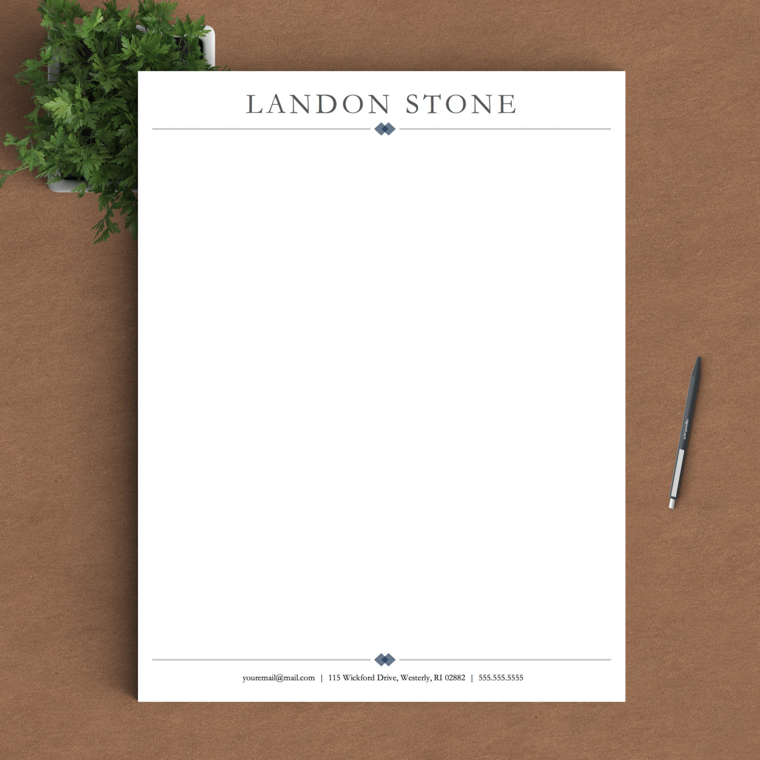 what does a letterhead look like