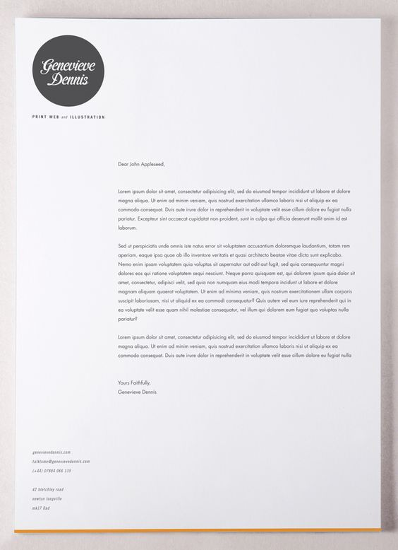 why is creating a letterhead important - Cover Letter Letterhead