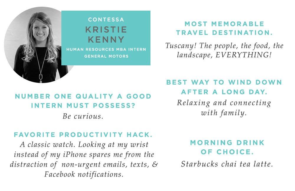 Kristie Kenny General Motors Career Contessa