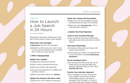 Find a New Job With This 10-Step Checklist
