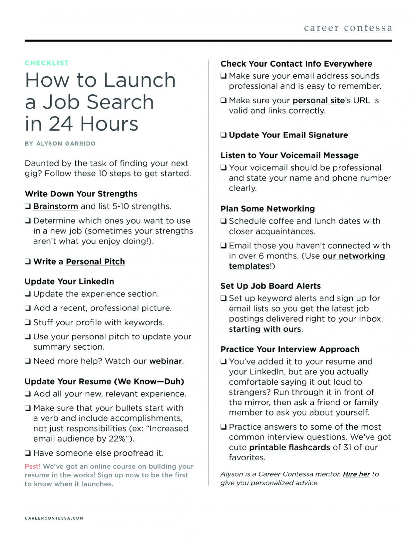 Free Digital Downloads for Your Career | Career Contessa